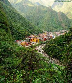 Town of Aguas Calientes Near Cusco, Peru