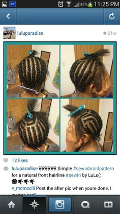 middle part sew in braid pattern » 4K Pictures | 4K Pictures [Full ...