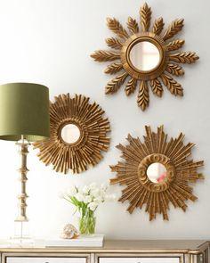 espejo sol decoracion vintage