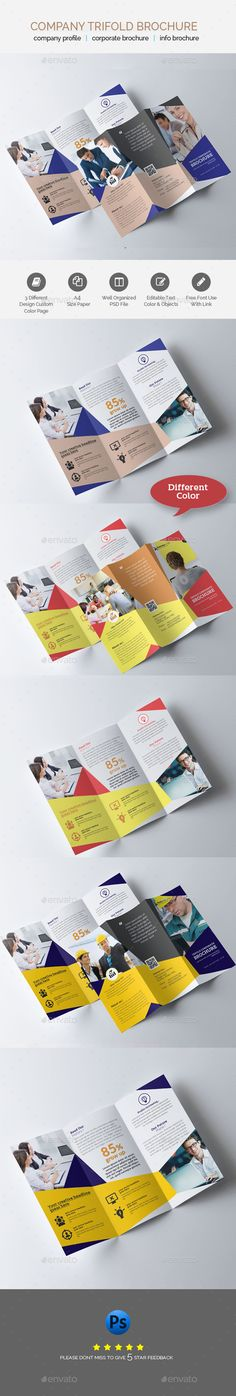 Modern Clean Trifold Brochure Template InDesign INDD Brochure - download brochure templates for microsoft word