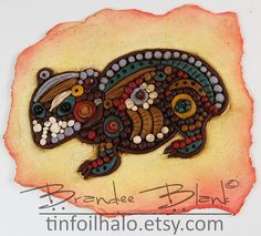 """Wombat """"Aboriginal"""" wall artpiece I made for the 2013 Friesen Project"""
