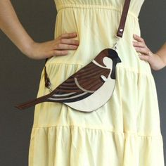 Leather Sparrow Clutch Bag - Handmade of recycled leather by MarcSimardArtisan on Etsy - No more available. My Bags, Purses And Bags, Mode Bizarre, Sac Vanessa Bruno, Novelty Bags, Recycled Leather, Handmade Leather, Vintage Leather, Creation Couture