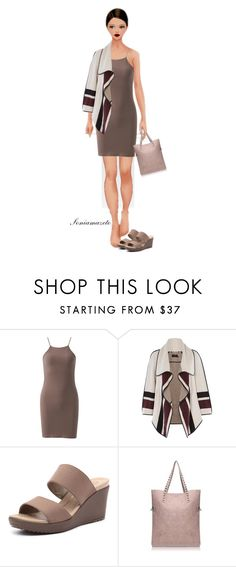 """""""Sem título #762"""" by soniamazeto ❤ liked on Polyvore featuring Karen Millen and Crocs"""