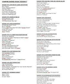 Vampire Diaries Music Season 7 Page 1