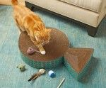Kitty scratch pad - made from cardboard boxes