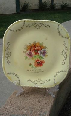 Antique Mr. & Mrs. H. C. Young Ethel Mo Souvenir Plate