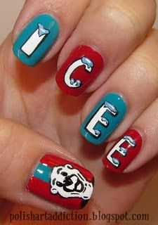 polish art addiction - i love icee's and these nails