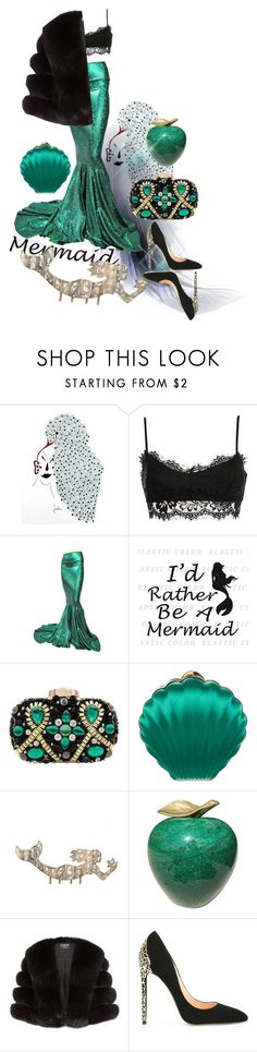 """Weekeend Mood: Mermaid"" by zouus ❤ liked on Polyvore featuring NOVICA, Lanvin, Harrods and Cerasella Milano"