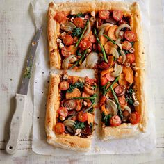 Vegetarian Dinner Party Ideas: Rustic Vegetable Tart Recipe | 'The Vegan Cookbook' | Recipes | Food | Red Online