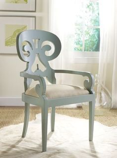 Unique and lovely chair...a pair would be fantastic in a space