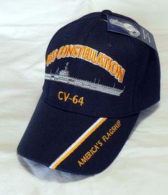 2be05d9a360 Uss constellation cv-64 us navy ship hat officially licensed baseball cap