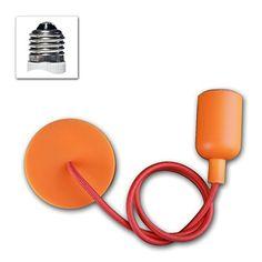 E27 Lampenaufhängung 'Silikon' orange