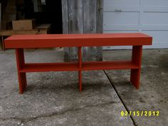 wooden bench 5' 24 tall farmhouse style by wayneswoodworking, $110.00