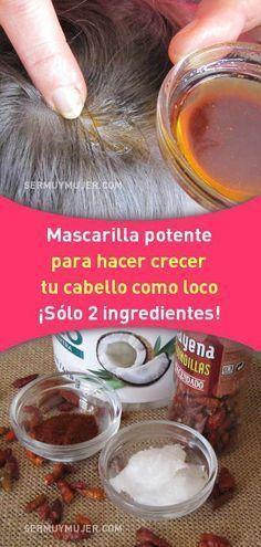 Mascarilla potente para hacer crecer tu cabello como loco. ¡Sólo 2 ingredientes! #mascarilla #cabello #pelo #perdida #caida #cuerocabelludo #aceite #coco #cayena #crecimiento