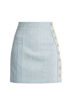Side-button stretch-denim mini skirt | Balmain | MATCHESFASHION.COM US