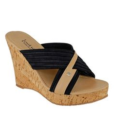 Look what I found on #zulily! Black & Natural Bell Sandal #zulilyfinds