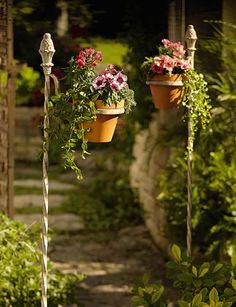 Antique Plant Pot Stake... entry with these beautiful sentries!