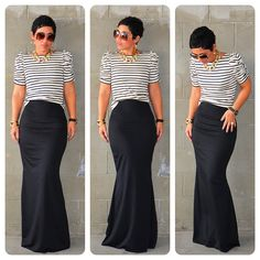 mimi g.: #DIY Fishtail Maxi + #DIY Puff Sleeve Top + Pattern Review B5562