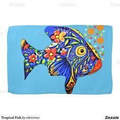 Tropical Fish Hand Towels
