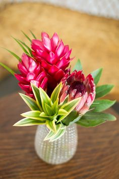 Tropical Flower Arrangements, Tropical Flowers, Fresh Flowers, Colorful Flowers, Flower Centerpieces, Flower Vases, Fish Centerpiece, Flower Crowns, Bridal Shower Flowers