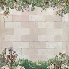 Looking Through The Wall Cicely Mary Barker, Scrapbook Paper, Scrapbooking, Flower Fairies, Note Paper, Christmas Images, Paper Background, Vintage Paper, Fairy