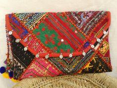 Banjara Patchwork Clutch Bag at www.kutchbanjarahandicrafts.com