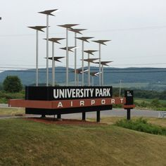 University Park Airport (SCE) - State College, PA-Conveniently located just miles from downtown. Happy Valley, State College, Airports, Naples, Pennsylvania, Wind Turbine, Interior And Exterior, Places Ive Been, Centre