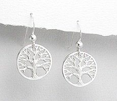 Amazon.com: .925 Sterling Silver. Tree of Life French Ear Wire Earrings.: Jewelry