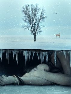 Photo Manipulate a Surreal Underground Scene with a Sleeping, Frozen Beauty | PSDFan