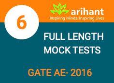 Full Length Mock Tests Gate AE 2016 #MOcktests #Gate2016 #OnlineTyari Visit https://onlinetyari.com/publishers/arihant-publications-p18.html