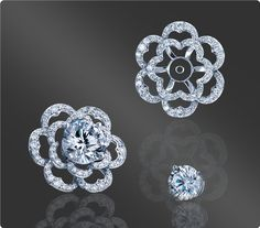 Discover classic and timeless diamond Earring Jackets from Spark Creations. View more www.SparkCreations.com