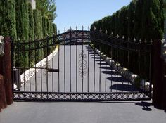 54Sp New Wave Style Gates at www.ccoigateandfence.com Driveway Gate, Custom Design, Automatic Gate, Electric Gate, Wrought Iron