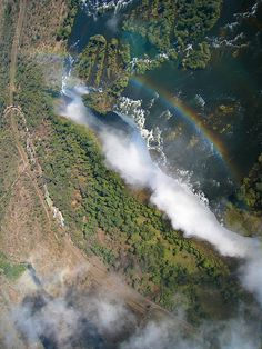 Victoria Falls from our flight