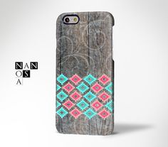 Wood Aztec Floral iPhone 6 CaseiPhone 6 Plus by Nanosart on Etsy