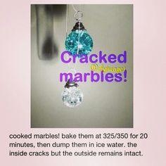 Diy crackes marbles