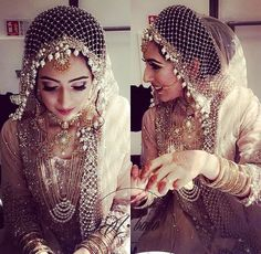 Being a bride in 2018 is fabulous- there are so many fresh new ideas and inspiration out there that you can really stand out as a bride! Accessories are an integral part of any bride's look and trouss. Bridal Dupatta, Pakistani Bridal Dresses, Bridal Hijab, Muslim Wedding Dresses, Muslim Brides, Indie, Bollywood, Bridal Photoshoot, Asian Bridal