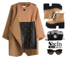 """""""Shein~it's getting cold~"""" by gabygirafe ❤ liked on Polyvore featuring Lord & Taylor, Sheinside, sunglasses, autumn and shein"""