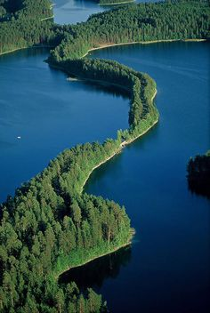 Punkaharju, one of the most beautiful landscapes in Finland opens from the road going through the ridge.