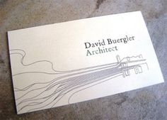 Architect's Business Card - again i like the organic lines to show a creative process in the work this architect does
