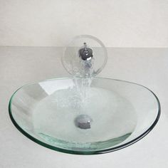 Bathroom Sinks On Ebay double later oil rubbed bronze style glass vessel sink waterfall