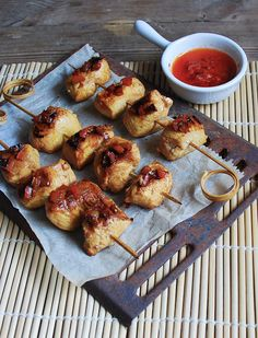Satay chicken - Brochetas de pollo satay