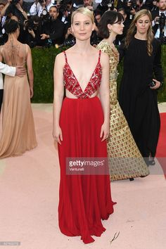 Actress Mia Wasikowska attends the 'Manus x Machina: Fashion In An Age Of Technology' Costume Institute Gala at Metropolitan Museum of Art on May 2, 2016 in New York City.