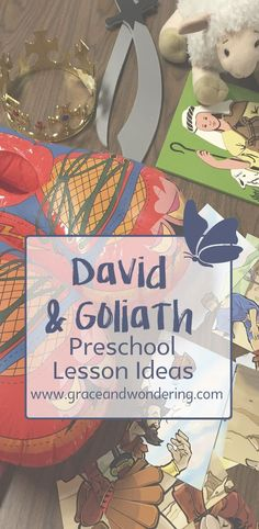 Creative, play based ideas for teaching David and Goliath Lesson to children for Sunday school or home based learning. Toddler Bible Crafts, Toddler Bible Lessons, Preschool Bible Lessons, Bible Story Crafts, Bible For Kids, Preschool Crafts, Bible Stories, Vbs Crafts, Preschool Ideas
