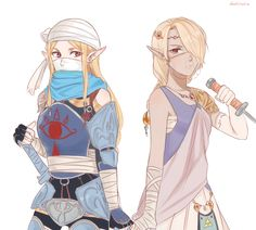 I went and added more to the character designs of Zelda and Sheik for that swapped au thing from a couple of days ago.