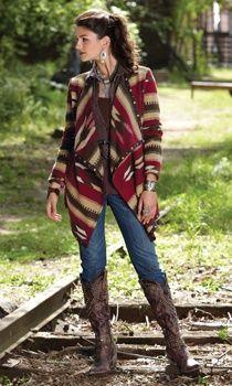 cowgirl fashion blanket style