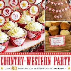 Chickabug - Country Western Birthday Party Printable Decor Kit (Digital File), $35.00 (http://www.chickabug.com/country-western-birthday-party-printable-decor-kit-digital-file/)