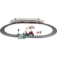 LEGO City - High-Speed Passenger Train and thousands more of the very best toys at Fat Brain Toys. Build a remote controlled high-speed passenger train that actually moves fast. Drive it around the tracks, pick up the passenge. Lego City Train, Lego Trains, Locomotive, Lego City Toys, Lego System, Lego Construction, Train Service, All Lego, Thing 1