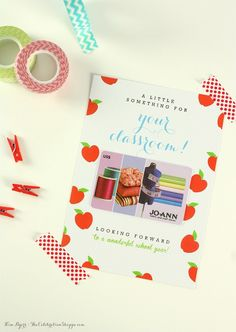Teacher Appreciation Gift // Three Free Printable Gift Card Holders | @kimbyers  TheCelebrationShoppe.com