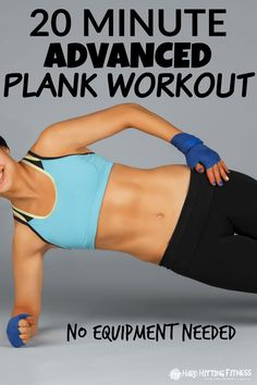 20 MINUTE ADVANCED PLANK WORKOUT