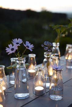 Milk Bottle Wedding Decor - Mason Jar Alternative